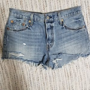 High Waisted 501 Distressed Levi Shorts